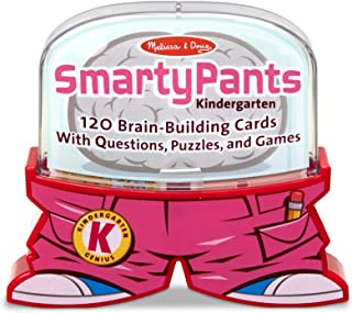 Melissa & Doug Smarty Pants Kindergarten Card Set (Trivia Games, Educational Card Set for Kids, Developed with Educators, 120 Cards, Great Gift for Girls and Boys - Best for 5, 6, and 7 Year Olds)