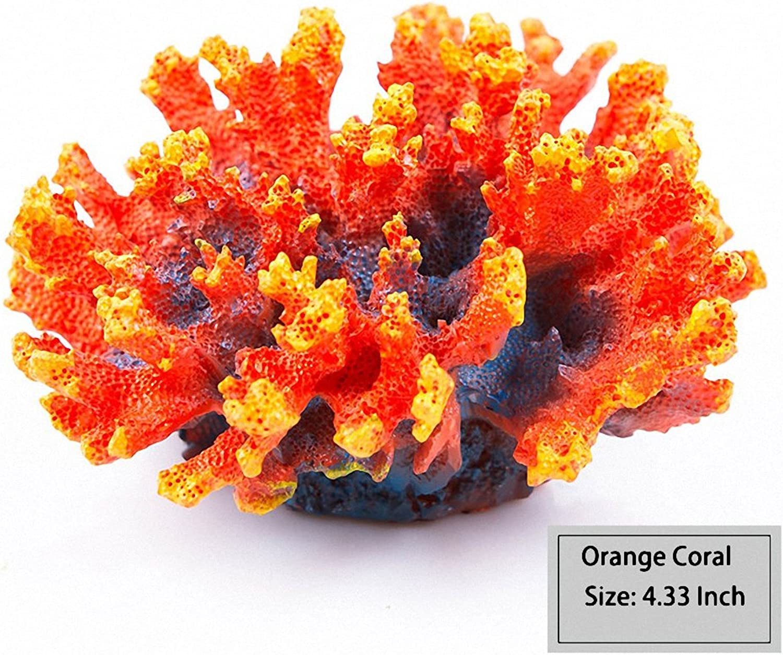 Artificial Sea Anemone Coral Plant for Aquarium Decoration Aquatic Arts Safe Resin Fish Tank Ornament