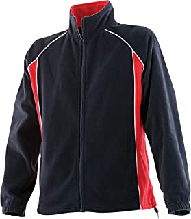 Finden & Hales Kids Unisex Piped Sports Anti-Pill Microfleece Jacket