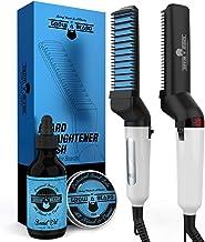 قلم مو صاف کننده ریش برای آقایان - شانه گرم کننده ریش یونی عالی برای جداشدگی ، حجم دهی و یک ظاهر طراحی شده - ابزار گرمایش الکتریکی قابل حمل با دمای قابل تنظیم و عملکرد ضد پوسته