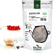 [Medicinal Korean Herb Tea] 100% Natural Schizandra Berry Tea / 20 Pyramid Teabags / 20 g 오미자 삼각 티백 차