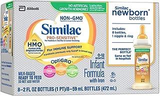 Similac Pro-Sensitive NON-GMO - Infant Formula 2oz (pack of 8) plus 1 nipple & ring
