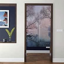 JTMOVING Japanese Style Tapestry Noren Door Hallway Kitchen Bedroom Curtain Winter Snow Scene Dreamy White 3D Print Long Type for Feng Shui Geomancy Home Decor Custom Curtains