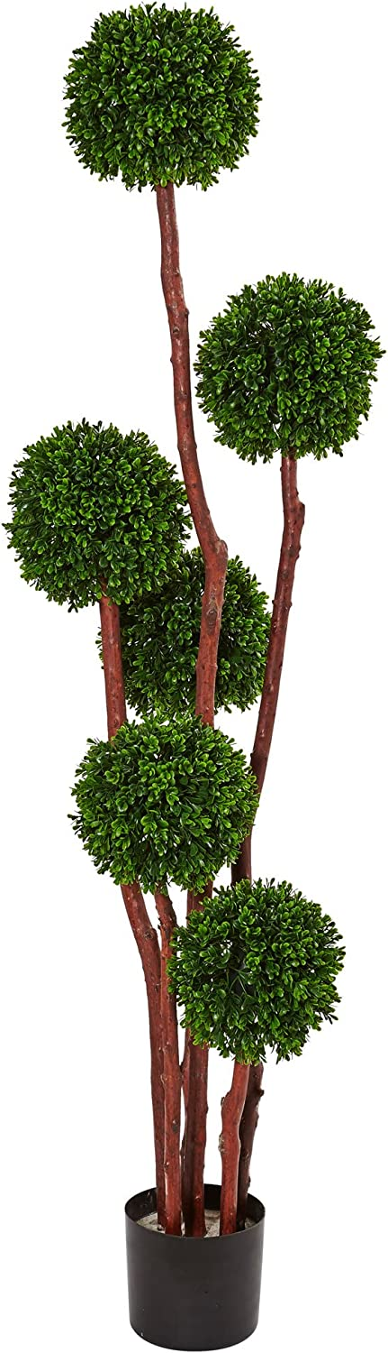 Nearly Natural Boxwood 2021 spring and summer new Artificial Same day shipping UV Resistant Tree Green