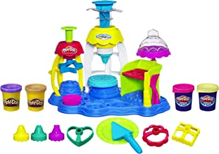 Play-Doh Frosting Fun Bakery Cake and Cupcake Toy with 4 Non-Toxic Colors, Including Play-Doh Plus (Amazon Exclusive)