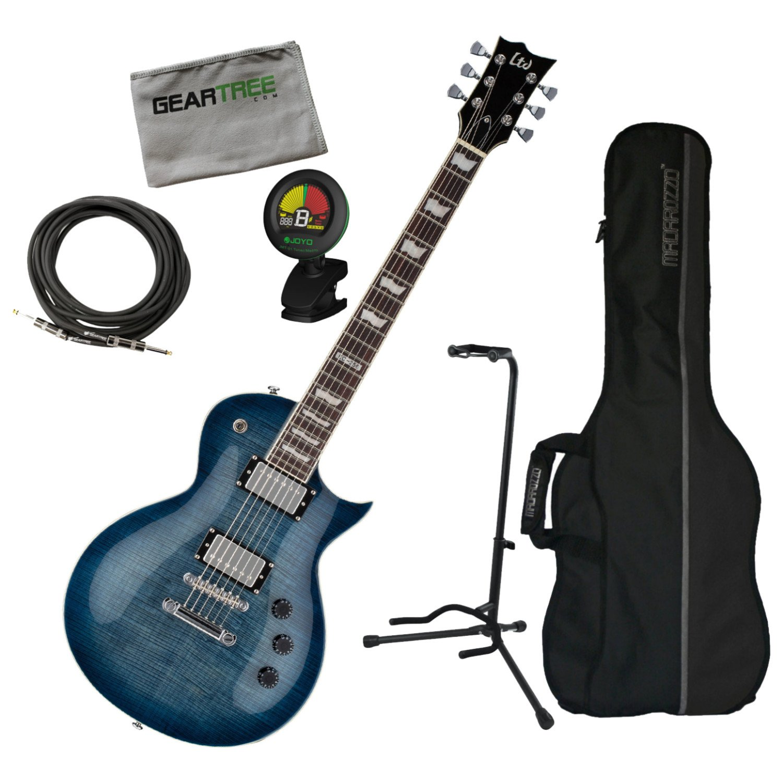 Cheap ESP LTD EC256FM CB Eclipse Cobalt Blue Electric Guitar w/Geartree Cloth Bag S Black Friday & Cyber Monday 2019