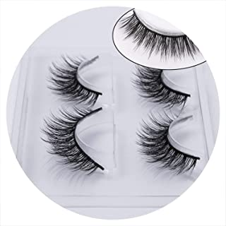 2 pairs natural false eyelashes fake lashes makeup kit 3D Mink Lashes eyelash extension mink eyelashes maquiagem,CURL,761