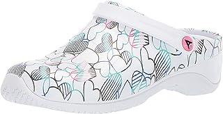 AnyWear Women's Zone Health Care Professional Shoe, Stripe In Petal, 7 Medium US