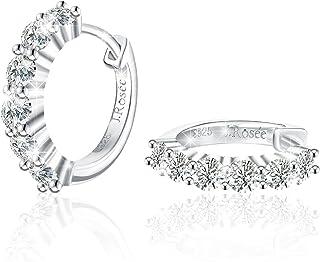 Ohrringe Damen, J.Rosée Weihnachtsgeschenke 925er Sterling Silber Blau Zirkonia Schmuck\