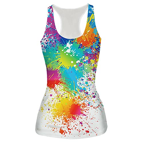 d2d7ecaefc45a2 RAISEVERN Women s Racerback Yoga Shirt Summer Sleeveless Casual Tank Tops
