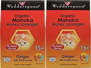 Wedderspoon Organic Manuka Honey Lozenges with Ginger and Echinacea, 4 Ounce (2 Pack)