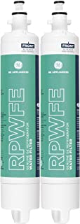 GE RPWFE Refrigerator Water Filter, White Green, Pack of 2