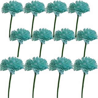 Lily Garden 12 Stems Artificial Carnation Flower Silk Bouquet (Turquoise)