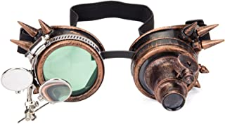 KOLCY Kaleidoscope Rave Glasses, Cosplay Steampunk Goggles Festival Goggles