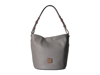 Dooney & Bourke Pebble Thea Feedbag (Stone/Tan Trim) Handbags