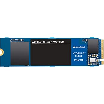 WD Blue SN550 500GB NVMe Internal SSD - Gen3 x4 PCIe 8Gb/s, M.2 2280, 3D NAND, Up to 2,400 MB/s - WDS500G2B0C