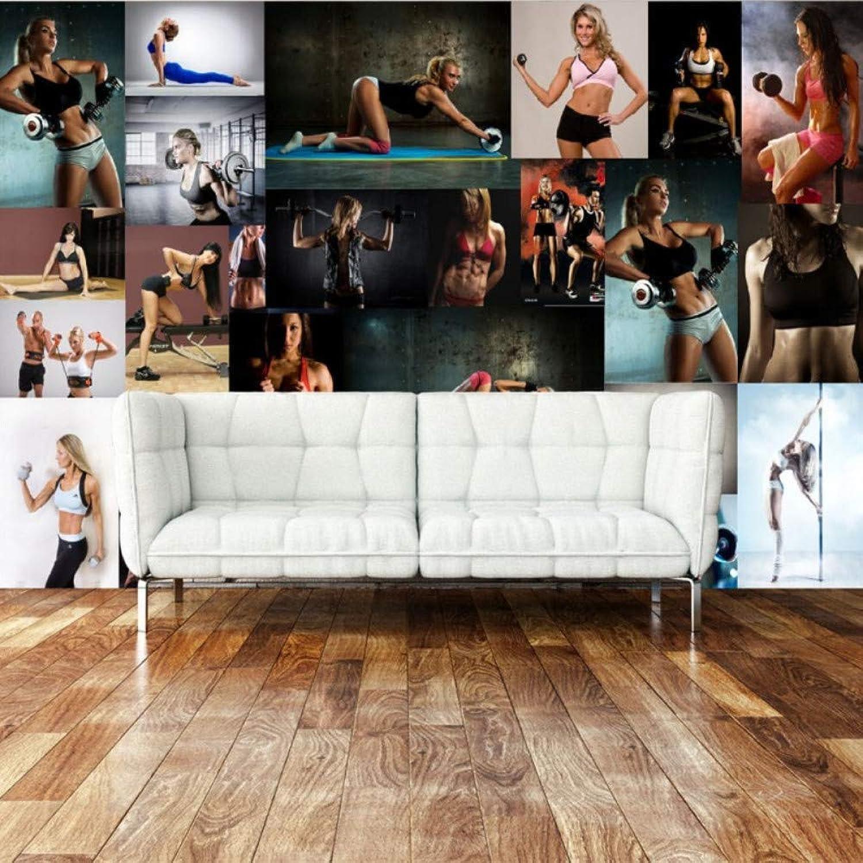 diseños exclusivos Mbwlkj Personalizado Murales De Parojo Papel pintado pintado pintado Moderno Sexy Belleza Bar Gimnasio Club De Deportes Fondo De Pantalla Papel pintado 3D-200cmx140cm  autorización oficial