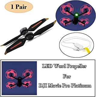 STARTRC Low-Noise Quick-Release Programmable LED Flash Word Propellers for DJI Mavic Pro Platinum LED Word Propeller 1 Pair