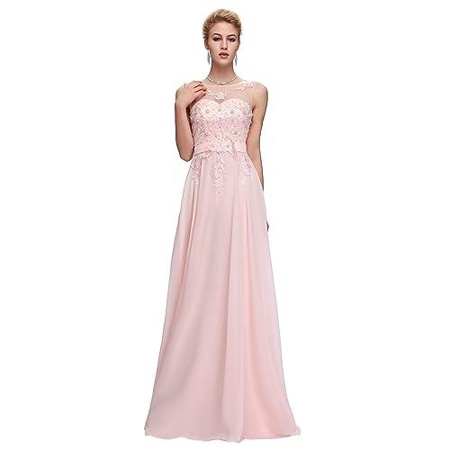 e198773bcd42 Maxi Chiffon Wedding Bridesmaid Dress A-Line Long Evening Ball Gowns Dress  UK Size 6