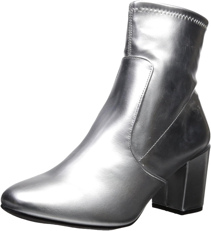 Rampage Women's Itsie Block Heel Stretch Ankle Dress Bootie Fashion Boot