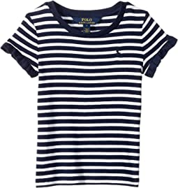 Ruffled Cotton-Modal T-Shirt (Little Kids)
