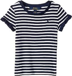 Ruffled Cotton-Modal T-Shirt (Little Kids)