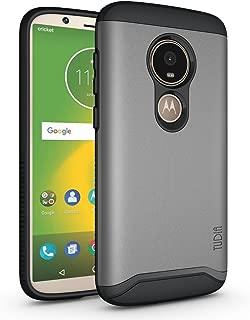 TUDIA Merge, Dual Layer Case Designed for Motorola Moto E5 Play/Moto E5 Cruise (Metallic Slate)