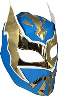 SIN CARA Youth Lucha Libre Wrestling Mask - KIDS Costume Wear - Blue