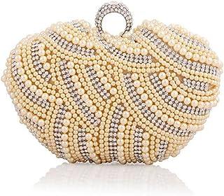 WBAG Damen Taschen Clutch Kleid Abend Party Hochzeit Diamante Perlen Geldbörse