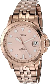 Women's FB-01 Stainless Steel Dive-Inspired Casual Quartz Watch