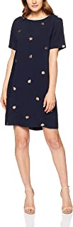 Elm Women's Leaf Shift Dress, Navy with Print