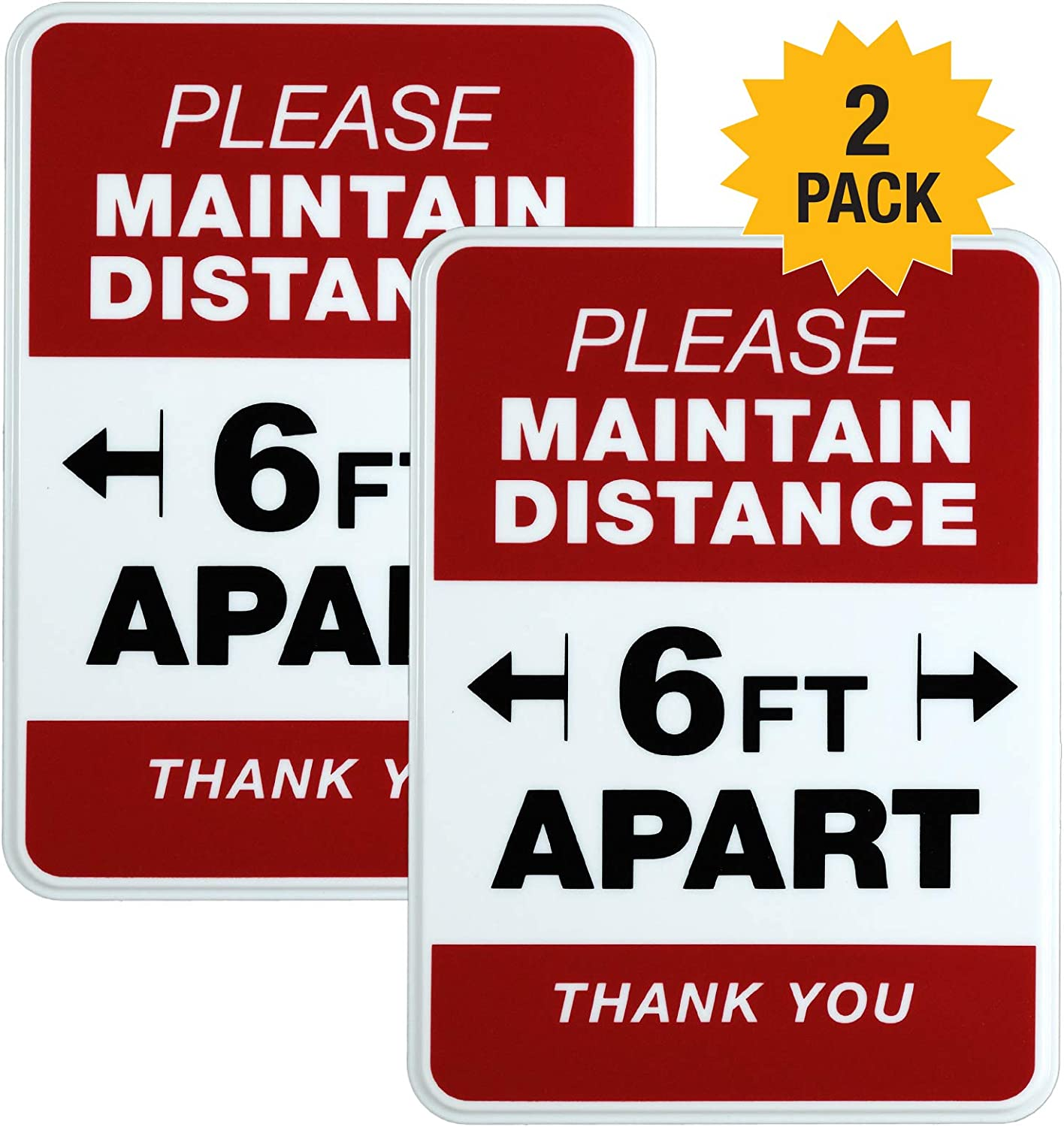 Please Stand 6 Feet Apart Sign: for Sign Ranking TOP14 Opening large release sale 5