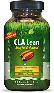 Irwin Naturals CLA Lean Body Fat Reduction High Potency Conjugated Linoleic Acid - Weight Management Supplement & Exercise...