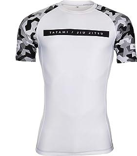 Tatami Fightwear Rival white & Camo Short Sleeve Rash Guard - white | Gym, Workout, Jiu Jitsu, Grappling, BJJ, MMA