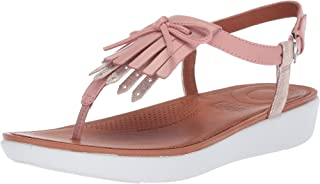 FitFlop Womens Tia Fringe Toe-Thong Sandals