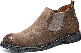 77e49e8e64082e Santimon Mens Ankle Chelsea Boots Suede Slip-on Fashion Stylish Formal Dress  Casual Short Boot