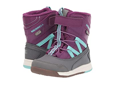 Merrell Kids Snow Crush Jr Waterproof (Toddler) (Purple/Turquoise) Girls Shoes