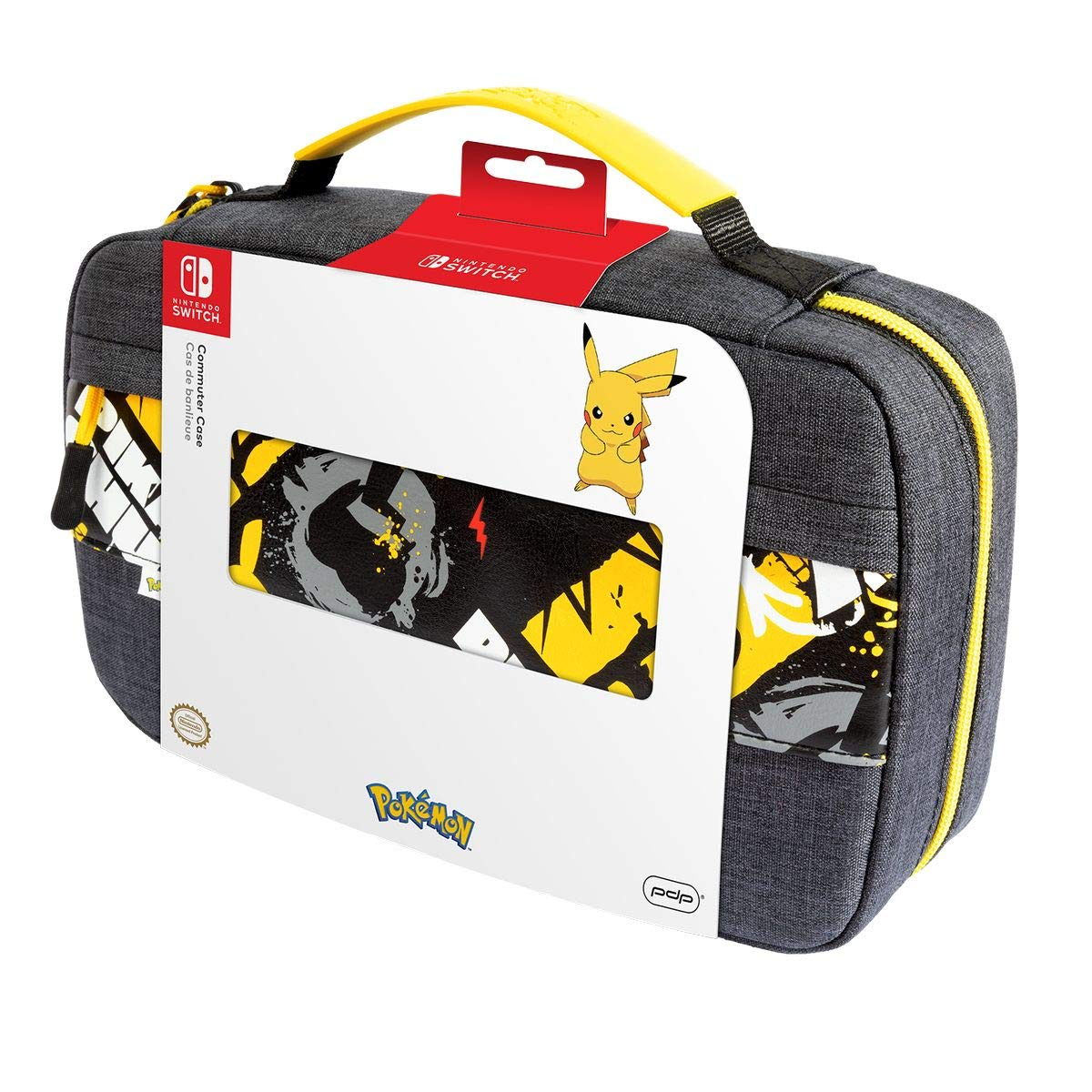 Shipping included PDP Gaming Pokemon Pikachu Commuter Case 14 G Console For To Up Super sale period limited