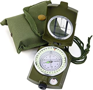 Sportneer Military Lensatic Sighting Compass with Carrying Bag, Waterproof and..
