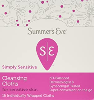 Summer's Eve Cleansing Cloth   Simply Sensitive   16 Count   Pack of 3