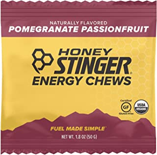 Honey Stinger Organic Energy Chews, Pomegranate Passionfruit, Sports Nutrition, 1.8 Ounce (Pack of 12)