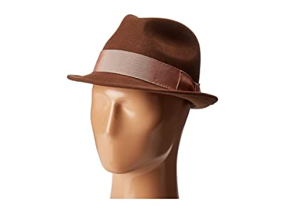 Country Gentleman Floyd Traditional Wool Fedora Hat (Chestnut) Caps
