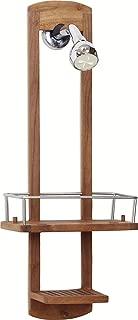 AquaTeak The Original Moa Small Teak Shower Caddy