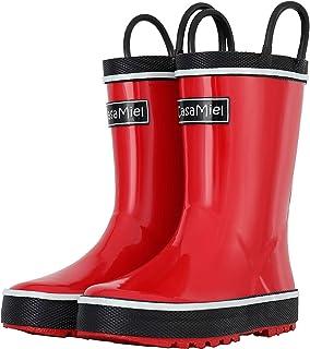 CasaMiel Kids Rain Boots for Boys Toddler Rain Boots for Girls, Handmade Natural Rubber Boots for Children