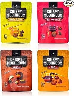 Shiitake mushroom crisps, Crispy Mushroom, Low fat snack pack, Crunchy healthy, Vegetable crisps, Mushroom snack, vegetable snacks, healthy crunchy snacks, mushroom chips snacks, variety pack 4, 4oz