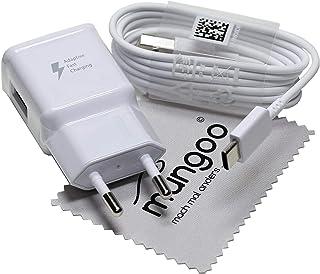 Cargador para Original Flash rápido Samsung 2A + USB Cable de tipo C Cable de carga de datos para Samsung Galaxy A8 2018 (A530F), Galaxy A8 Plus 2018 (A730F) con mungoo pantalla paño de limpieza