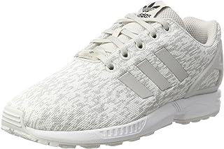 adidas Zx Flux J, Scarpe da Ginnastica Basse Unisex-Bambini, Bianco (Grey One F17/Grey One F17/Ftwr White)