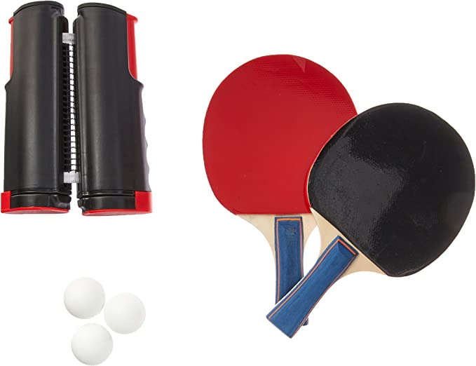 Trademark Innovations Portable & Lightweight Ping Pong Game Set (Red)