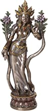 Pacific Giftware White Tara Buddhist Goddess of Compassion and Longevity Figurine 8 inch Tall Cast Bronze Finish
