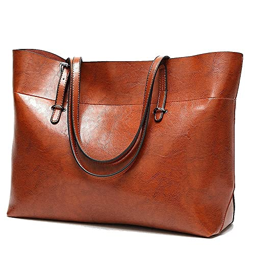 05de916b0fb9 Brown Leather Tote Bag  Amazon.co.uk